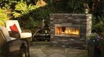 HZO42E OUTDOOR MODERN CONTEMPORARY GAS FIREPLACE VENTLESS