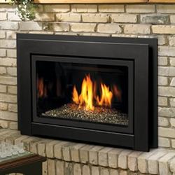 Kingsman Idv36 Gas Fireplace Insert Direct Vent 34 000 Btu Clean Face Or Louvers Log Set Or