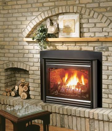 Kingsman Idv33 Gas Fireplace Insert Direct Vent 31 000 Btu Clean Face Or Louvers
