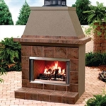 "Majestic MONTANA 36""  Outdoor Radiant Wood Fireplace - Stainless Steel"