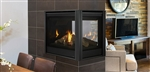 "MAJESTIC PEARL II 36"" PENINSULA DirectVent Gas Fireplace (LOGS or CRYSTALS) - CLEAN FACE -"