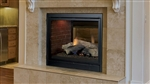 "MAJESTIC PEARL PEARL36ST 36"" SEE-THROUGH Direct Vent Gas Fireplace (LOGS or CRYSTALS) - CLEAN FACE -"