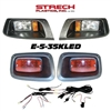 EZGO TXT Black Halogen Head & LED Tail Light Kit #E-5-35KLED