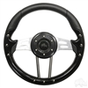 "13"" Aviator 4 Black Steering Wheel"