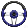 "13"" Aviator 4 Blue Steering Wheel"