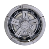 8 Inch Vegas Chrome Wheel Cover Golf Cart Hub Cap