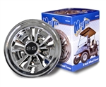 8 Inch 10 Spoke SS Chrome Wheel Cover Golf Cart Hub Cap