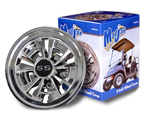 10 Inch Wheels For Golf Cart : Inch spoke ss chrome wheel cover golf cart hub cap