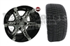 12x7 RX250 Honeycomb Wheel with Low Profile Golf Cart Tire