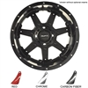 "14"" Blackhawk Black Wheels with Lifted Golf Cart Tire"