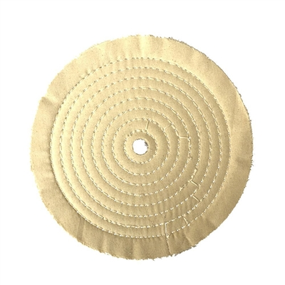 "1/2"" Arbor X 8"" Diameter Muslin Buffing Wheel"