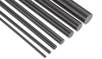 Black Delrin Homopolymer Rod