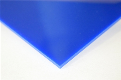 "1/4"" X 24"" X 48"" Blue #2050 Cast Acrylic Paper-Masked Sheet"