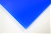 "1/4"" X 24"" X 48"" Blue #2051 Cast Acrylic Paper-Masked Sheet"