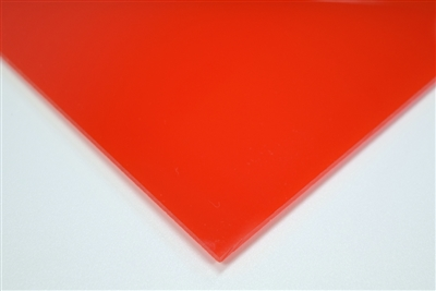 "1/8"" X 24"" X 48"" Red #2283 Cast Acrylic Paper-Masked Sheet"