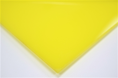 "1/8"" X 24"" X 48"" Yellow #2037 Cast Acrylic Paper-Masked Sheet"