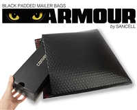 Sancell Black Armour padded mailer bags 300 x 280