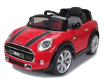 Daymak Mini Cooper 6V  Red, Ride on Toy Car