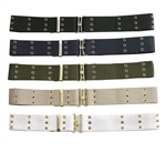 G.I. Style Canvas Pistol Belts w/Metal Buckle, Khaki