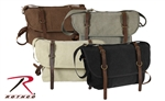 Vintage Canvas Explorer Shoulder Bags w/Leather Accents