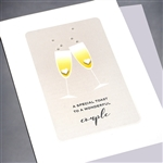 "Anniversary  "" Champagne & Hearts ""  AN28"