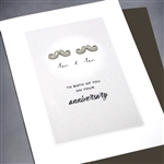 "Anniversary / Equality  "" Mustache ""  ANEQ01 Greeting Card"