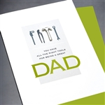 "Birthday "" Dad Birthday ""  BD197 Greeting Card"