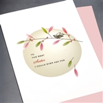 "Birthday "" Sister ""  BD238 Greeting Card"