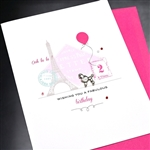 "Birthday "" Poodle ""  BD244 Greeting Card"