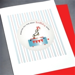 "Birthday "" Circus Dog ""  BD256 Greeting Card"