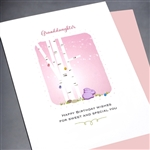 "Birthday "" Granddaughter ""  BD272 Greeting Card"