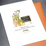 "Birthday  "" Lots Of Love ""  BD289 Greeting Card"
