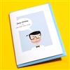 "Birthday  "" Very Cool Dude ""  BD316 Greeting Card"