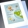 "Graduation "" The World ""  GD07 Greeting Card"