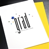 "Graduation "" Blue Star ""  GD08 Greeting Card"