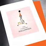 "Halloween  "" Purr-fect Cat ""  HW13 Greeting Card"