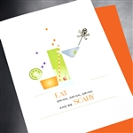 "Halloween  "" Drink, Drink, Drink ""  HW28 Greeting Card"