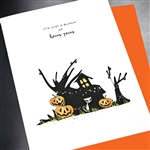 "Halloween  "" Hocus Locus ""  HW45 Greeting Card"