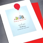 "New Baby  "" Bear & Balloon ""  NB33 Greeting Card"