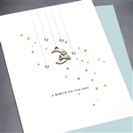 "New Baby  "" Rabbit & Moon ""  NB35 Greeting Card"