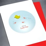 "New Baby "" Yellow Duck ""  NB48 Greeting Card"