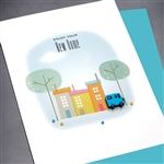 "New Home  "" Blue Truck ""  NH18 Greeting Card"