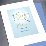 "Thank You "" Fork & Knife ""  TY52 Greeting Card"