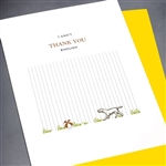 "Thank You  "" Dog & Ball ""  TY62 Greeting Card"