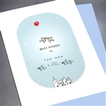 "Wedding  ""Mr. & Mrs.""  WD70 Greeting Card"