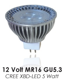 LED MR16-12V- 5XBD 100deg 3000k 320 lumens DAUER LED