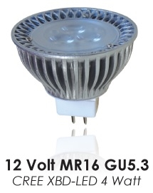 LED MR16 4XBD 15deg 3000k 250 lumens DAUER LED