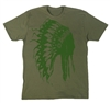American Born Chief Tee for Him Green