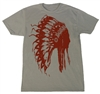 American Born Chief Tee for Him in Red
