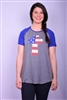 American Flag Cross Tee